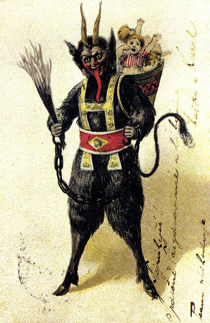 Krampus  is a beast-like creature from the  folklore  of  Alpine ...