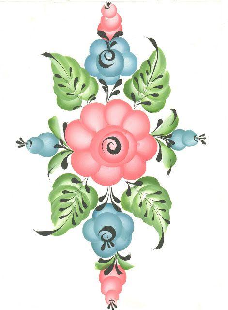 Российские росписи: Урало-сибирская роспись. Уроки от Марины