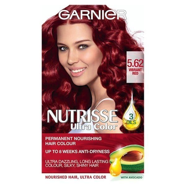 Garnier Nutrisse 5.62 Vibrant Red Permanent Hair Dye