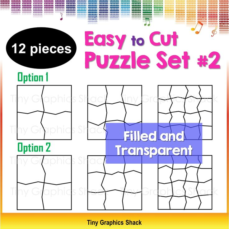 This set includes 12 blank puzzle templates for educators who love to create fun puzzles, games, and activities for their students/children. The simple zigzag lines should save you time as they are easier to cut. You can create educational resources with these crisp high quality images.
