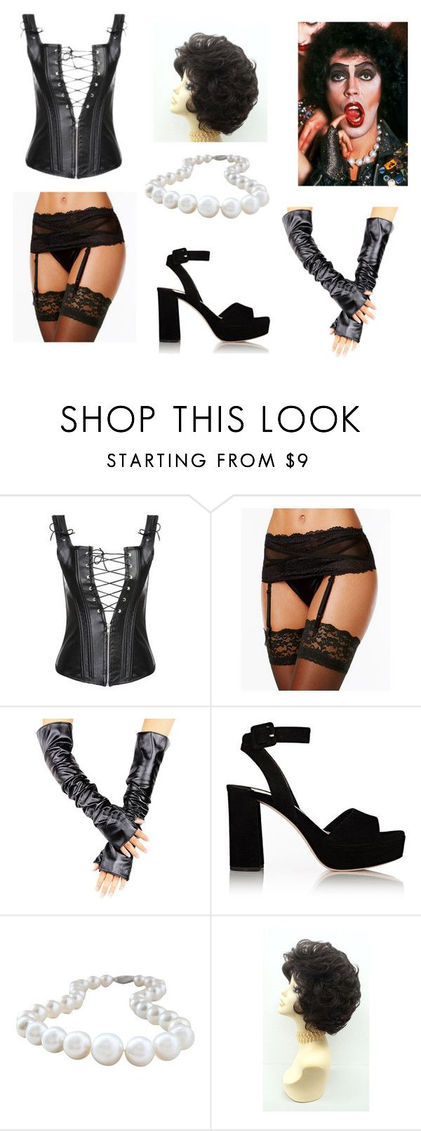 """""The Rocky Horror Picture Show"" Dr. Frank N Furter Costume"" by oliviaf14 on Polyvore featuring Maidenform and Miu Miu"