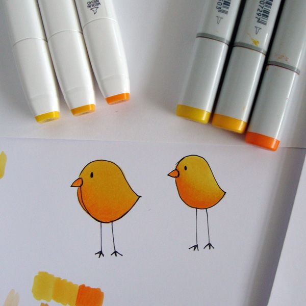 Step-by-step copic coloring tutorial by Michelle Houghton | GetItScrapped.com/blog