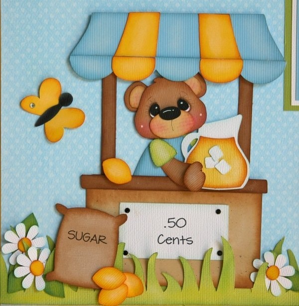 MOMZ MP2G LEMONADE STAND SUMMER BOY GIRL TWO PAGE LAYOUT Premade Scrapbook Pages | eBay