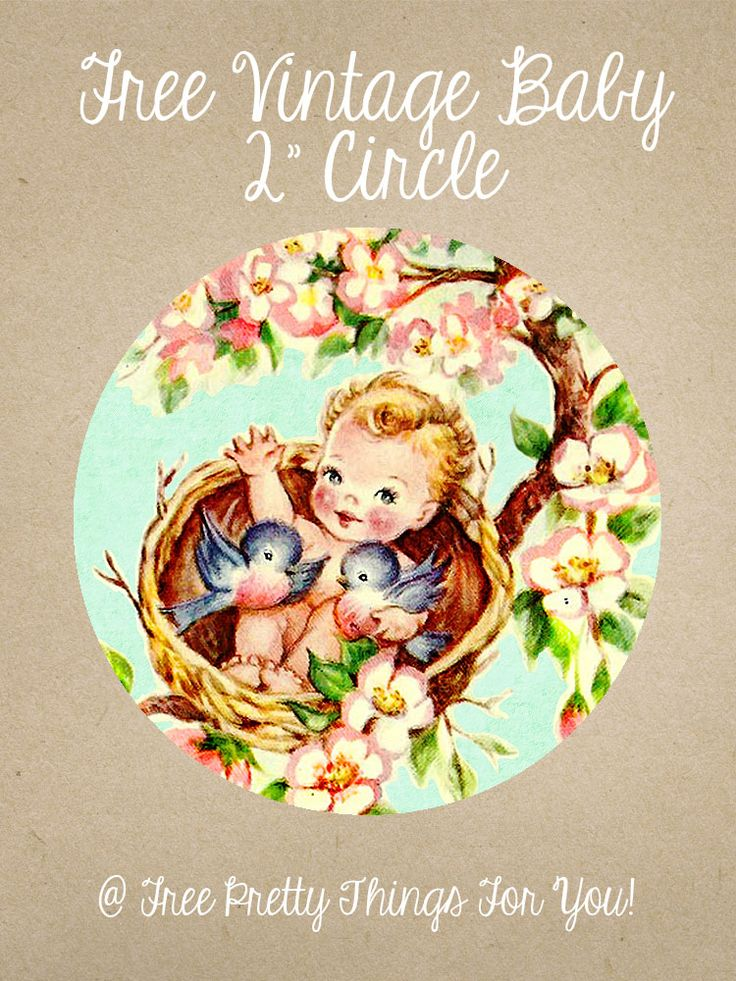 Baby Pictures: Free Vintage Baby 2 inch Circles - Free Pretty Things For You