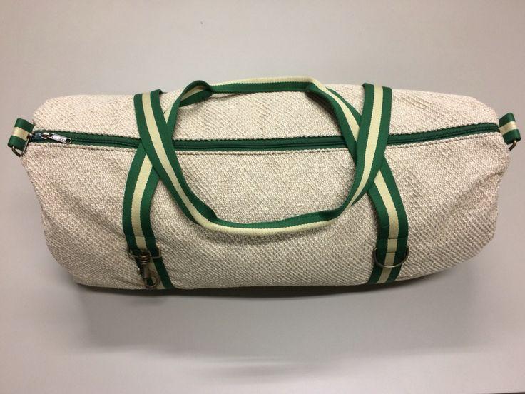 mod.20 - dirty white bag - green/cream/green stripes
