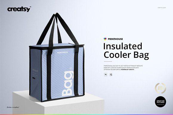 Download Insulated Cooler Bag Mockup Set Cooler Bag Bag Mockup Mockup