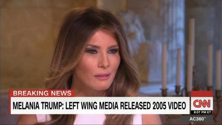 In an interview with my best friend Anderson Cooper on CNN, Melania Trump calmly addressed the insane amount of shit that has been flying around her husband, pilonidal cyst Donald Trump, and his treatment of women.