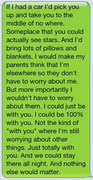 Cute texts This would be a wonderful date.. <3