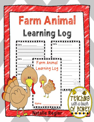 Farm Animal Learning Log - Give students a farm animal learning log during a farm animals unit! Each day students write a summary about what they have learned. This activity makes a great literacy or science center activity. Students can also use their farm animal learning log as an exit activity before leaving class. #teachersherpa