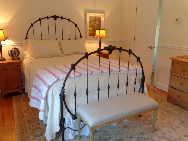 one of the many beautiful bedrooms in manhattans finest bu0026bthe house thanks to the owners for this photo of an antique iron bed they got from us