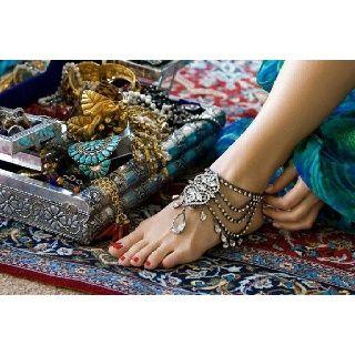 Crystal anklet
