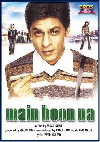 Main Hoon Na (2004) w/ Shah Rukh Khan, Shushmita Sen, Zayed Khan, Amrita Rao, Sunil Shetty, Boman Irani = get on DVD with English subtitles