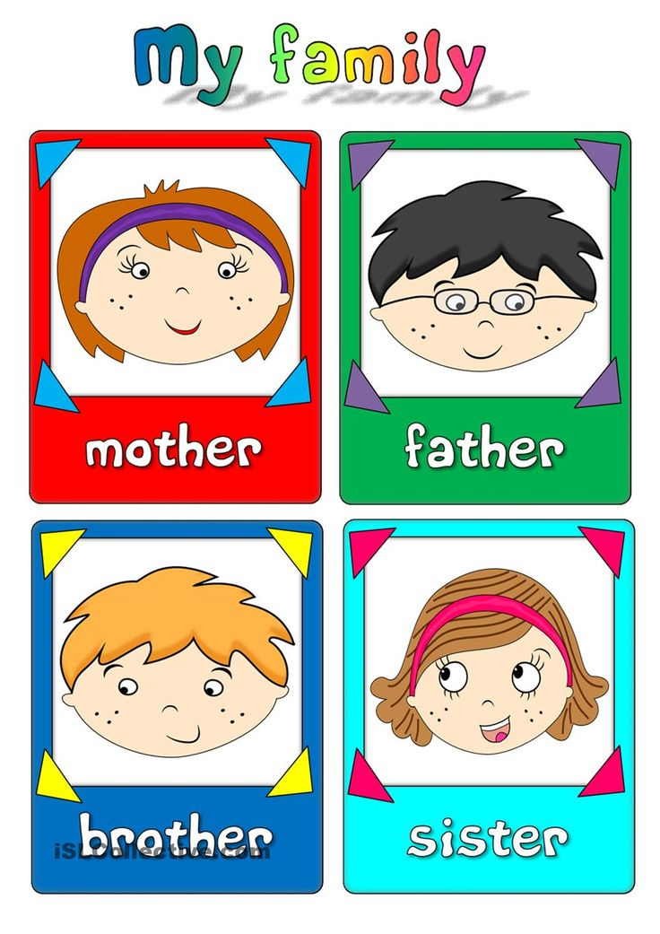 My family - flashcards