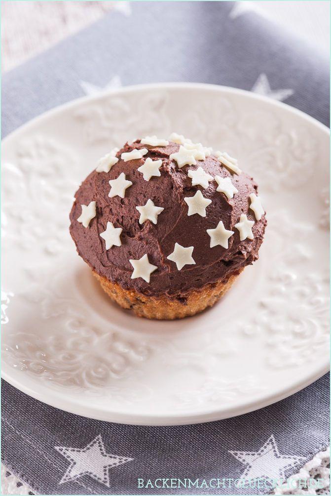 Spekulatius Muffin mit Schokoladenfrosting