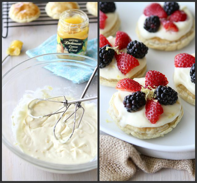 Puff Pastry Dessert Rounds with Lemon Mascarpone & Fresh Berries Recipe by CookinCanuck, I love lemon!