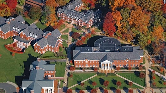 Aerial view of tcnj campus the college of new jersey in for New jersey house music