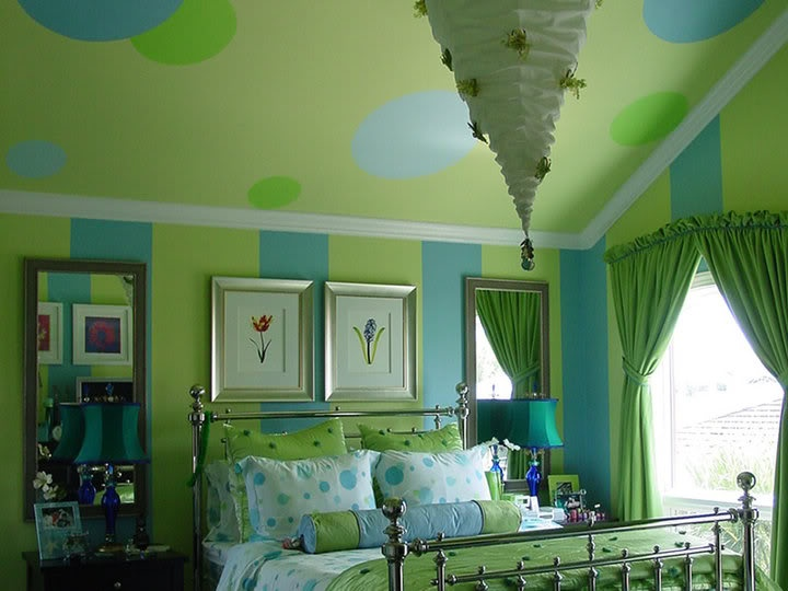 green blue room - Blue And Green Bedroom Decorating Ideas