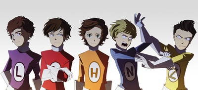 The Adventurous Adventures Of One Direction HAHAHA LOOKS NORMAL TILL YA GET TO NIALL AND ZAYN! X'D