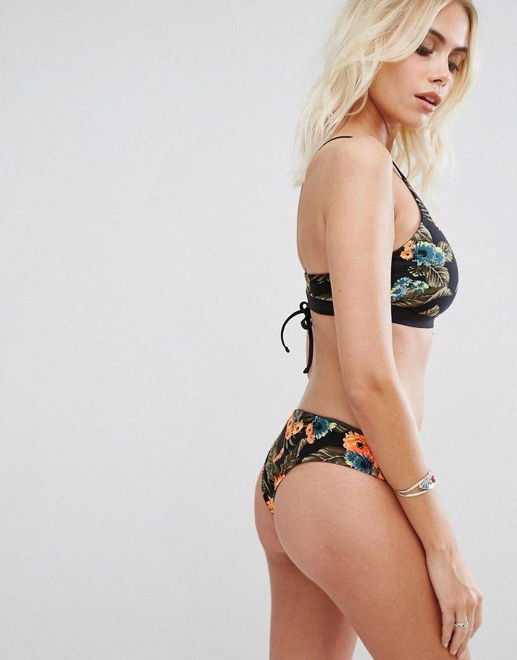 Rip Curl Reversible Rose Print Mirage Surf Bikini Top - Multi