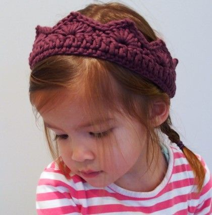 Crochet Party Crown by Wee Three Kids. Perfect for inspiring imaginative play in your littles!