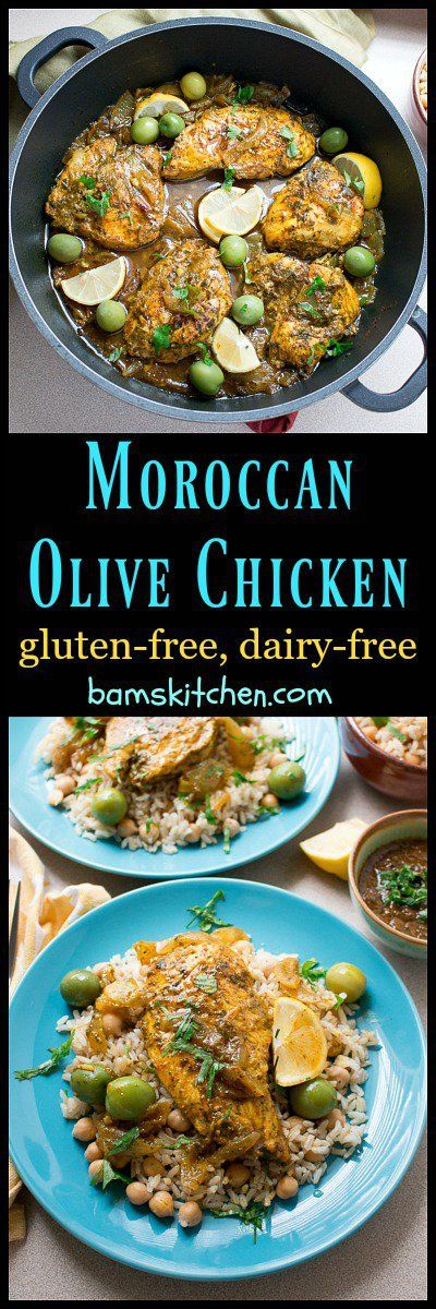 Moroccan Olive Chicken / LESS THAN 30 MINUTES/ GLUTEN-FREE/ DAIRY-FREE/ PANTRY MEAL/ https://www.hwcmagazine.com