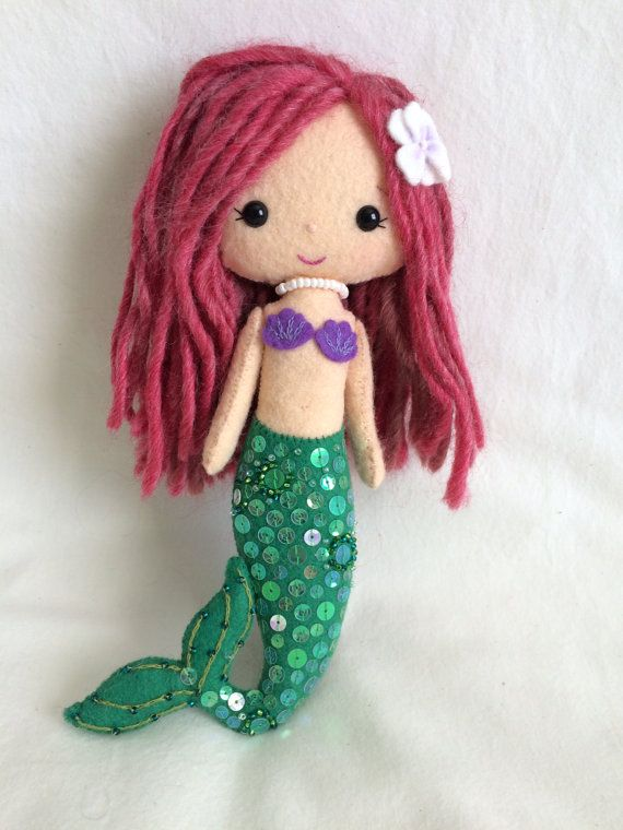 Mermaid Girl feltwoolgingermelonfinished by likeandluvhandmade