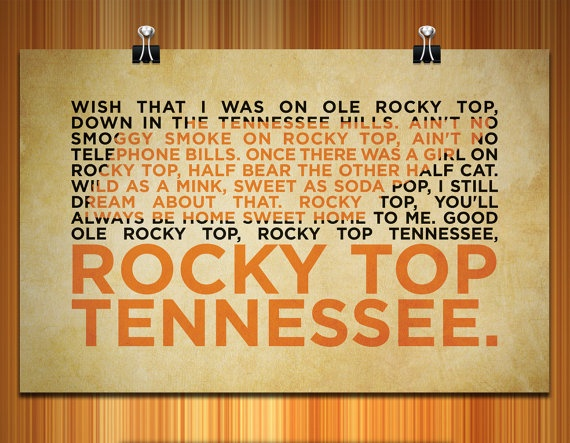 Rocky Top Poster  17 x 11 by RiddellDesigns on Etsy, $19.99