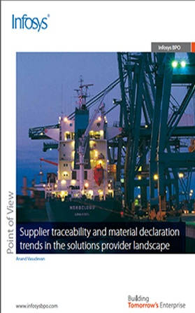 Supplier traceability and material declaration trends in the solutions provider landscape