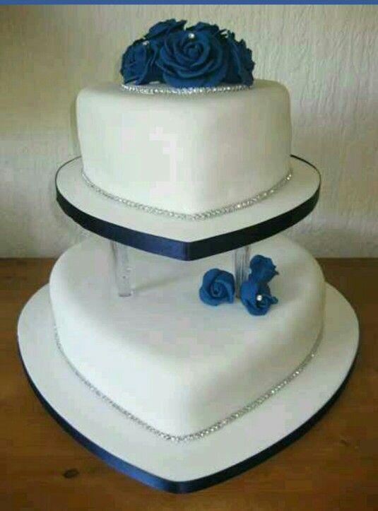Tiered wedding cake Royal Blue