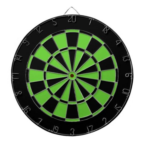 Black and Green Dartboards