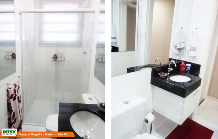 Apartamento decorado 2 dormitórios do Parque Bogotá no bairro Parque Bauru   -> Banheiros Decorados Apartamentos Mrv