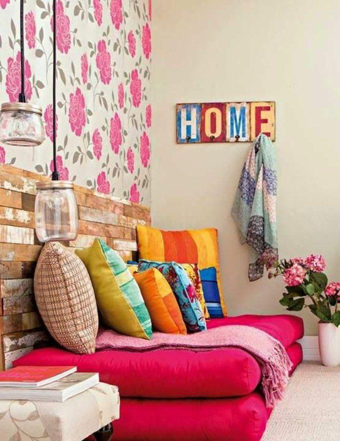dekoideen diy gegenstände sperrholz holzbohlen holzplatten sofa kopfteil