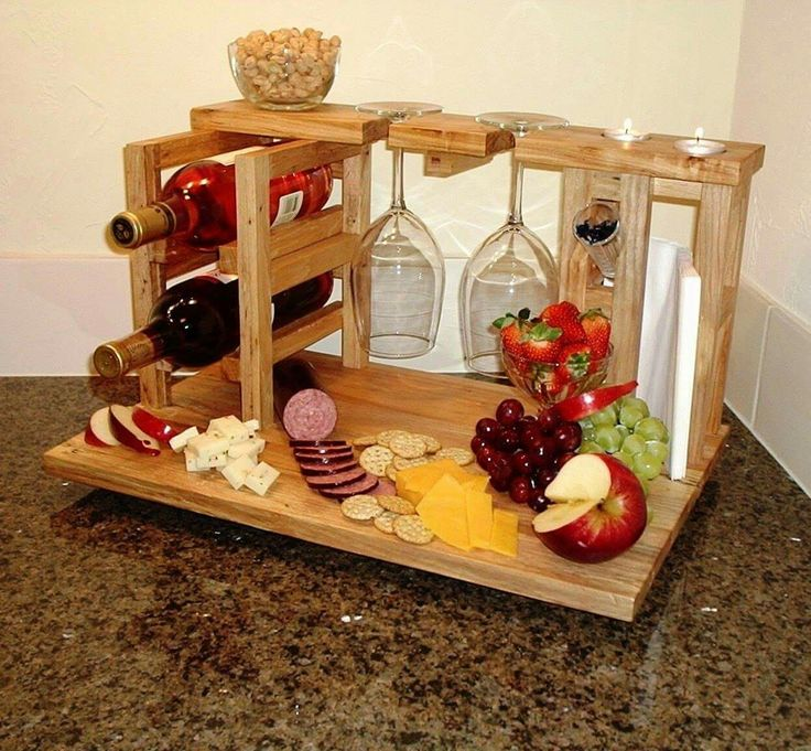 Beautiful Wine Holder/Charcuterie Board❤ These would make Wonderful Christmas Gifts No Instruction-Image Only.
