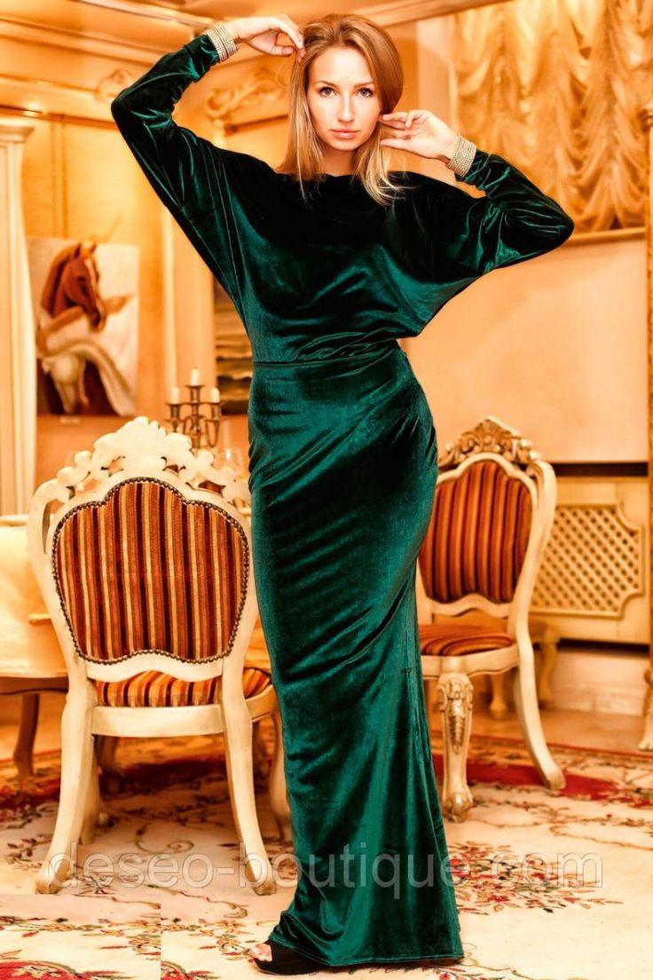 Платья, туники, сарафаны Платье женское с открытой спиной из бархата (К2554) 460грн. Deseo Boutique Киев 1319919