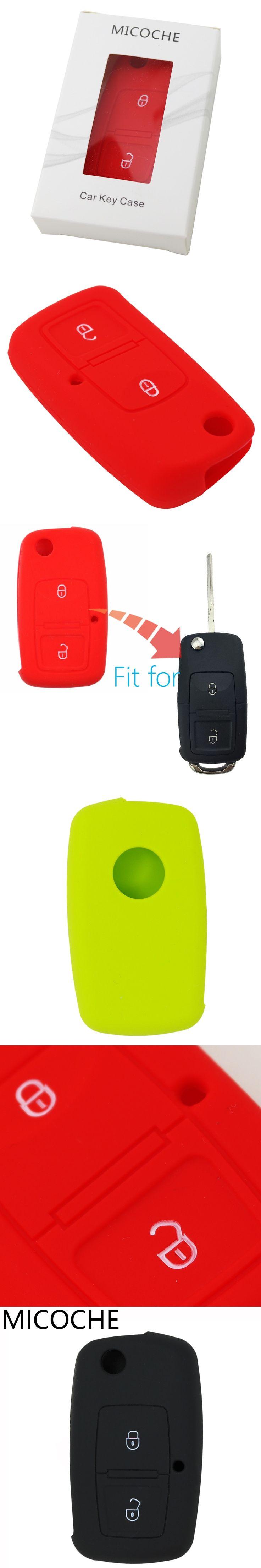 1pc 2 button Car Key Case Cover For VOLKSWAGEN Vw MK4 Seat Altea Alhambra Ibiza Polo Golf 4 5 6 Transporter Amarok Sharan