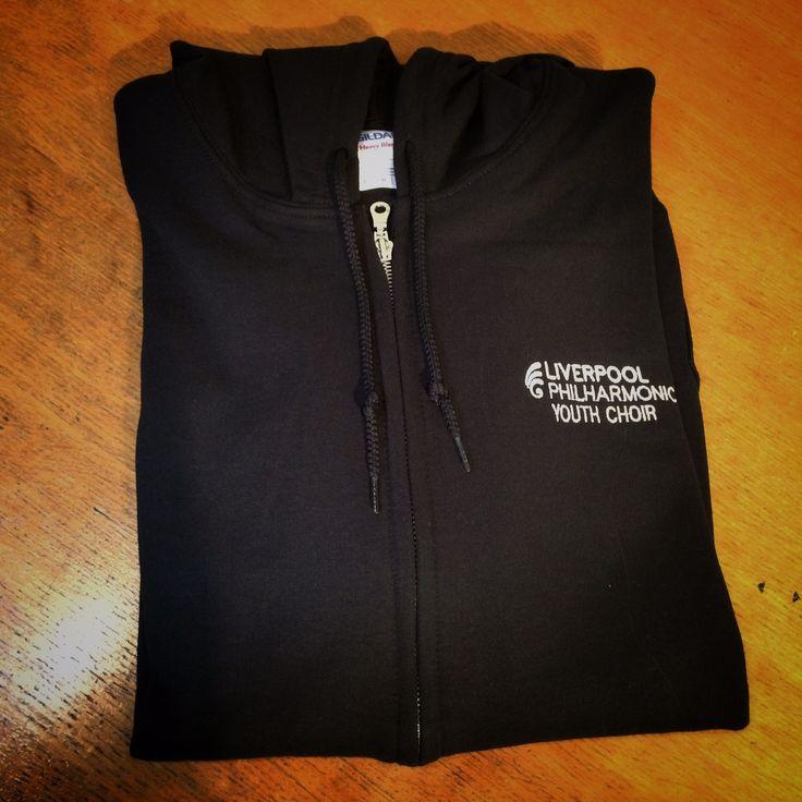 Custom zip hoodie for Liverpool Philharmonic Hall Youth Choir.