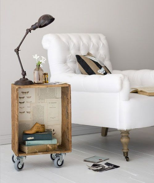 Give An Eco- Friendly Vibe With Repurposed Bedside Tables
