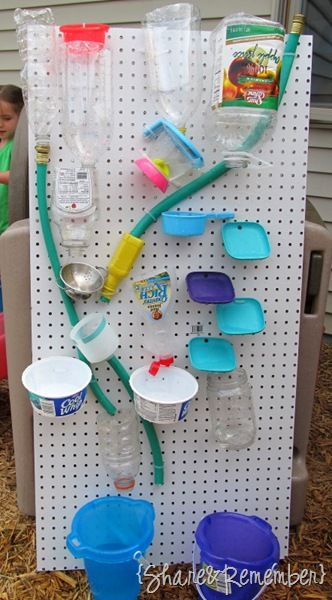 Water wall fall using recyclables ≈ ≈