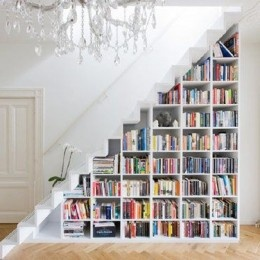 I'm obsessed with book/stair cases!! #design #decor #home #house #ideas #staircase #books