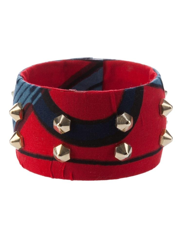 Women - Bracelets - Stella Jean B701 Rosso - Dolci Trame