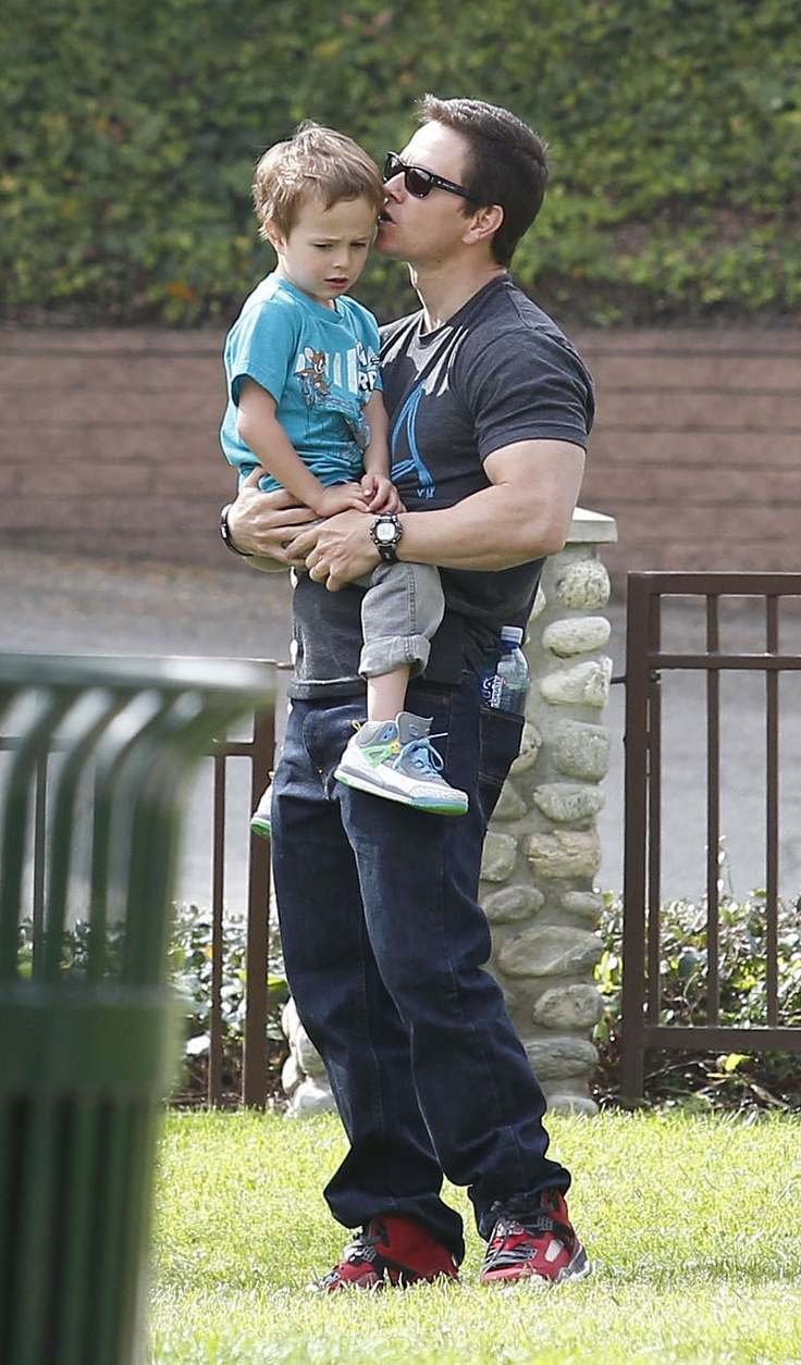 Mark Wahlberg and His Son Brendan Share a Pigskin Playdate | Get the pcitures