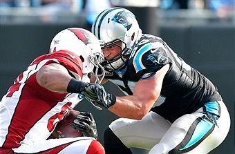 He'll be back at this in no time, n there will be hell to pay if ur in his path;) Luke Kuechly MLB Carolina Panthers, get well soon:)
