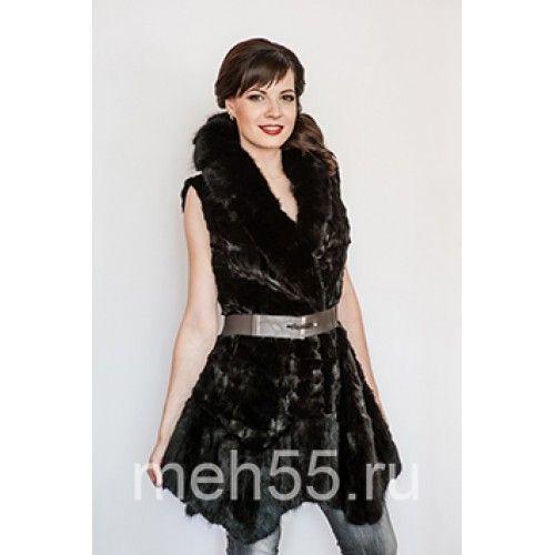 Жилет-платье - Жилет-платье черного цвета норка+ондатра, лоскут из норки, застежка на кнопки р-р 44-46Жилет-платье из норки+ондатра - Жилет-платье черного цвета норка+ондатра, лоскут из норки, застежка на кнопки р-р 44-46.Жилет-платье из норки+ондатра - Ж