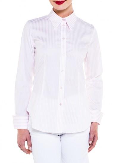 Mr.Rose Easy Rider shirt in dusty pink stripe $169