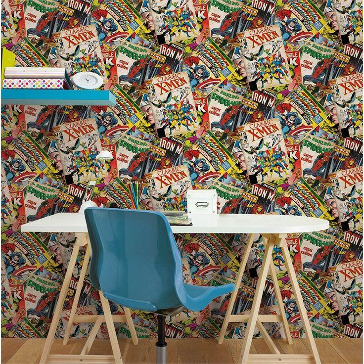 Marvel 52cm x 10m Comics Cover Wallpaper #marvelhistory #kidsdecor #comicbookera #popculture