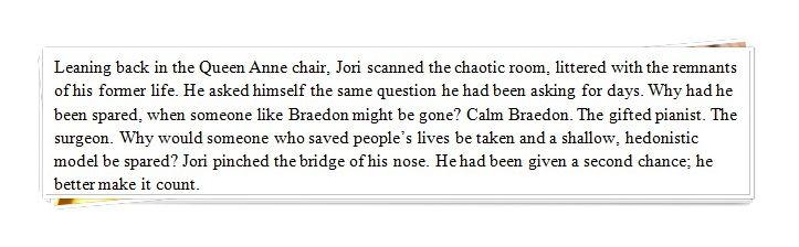 Excerpt - Jori reflects