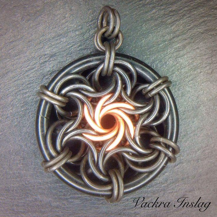 """Moorish Rose Pendant """"Dying Star"""" by Malin Nordin at Vackra Inslag."""