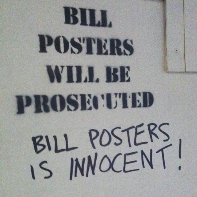 Free Bill Posters!: Free Bill, Poor Bill, Bad Rap
