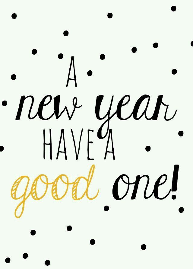 A new year....