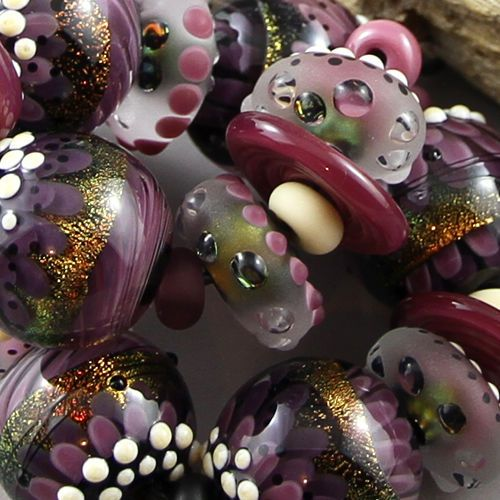 magma beads last set of the year handmade lampwork beads